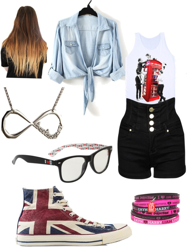 """""""one direction concert c;"""" by ctrox ❤ liked on Polyvore"""