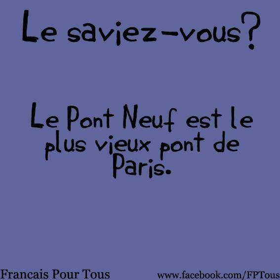 [FUN FACTS] #Paris #Pont