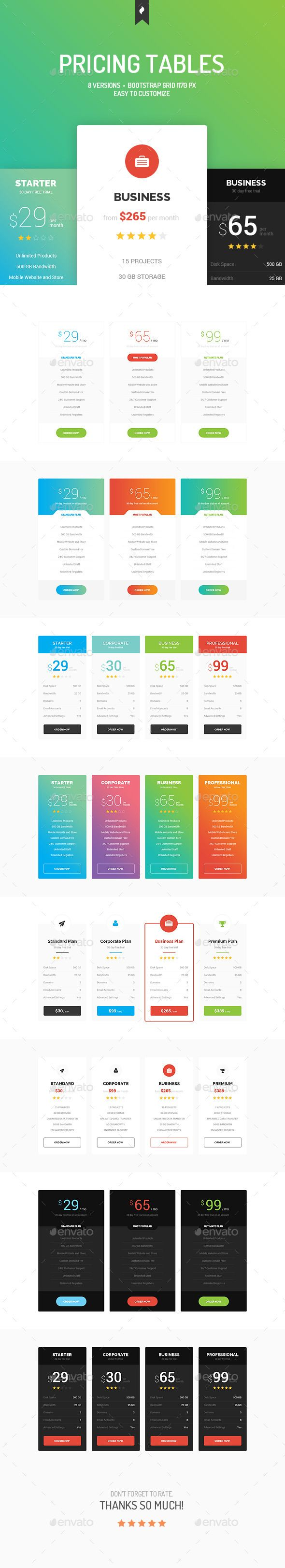 Pricing Tables Template PSD. Download here: http://graphicriver.net/item/pricing-tables/10961155?ref=ksioks
