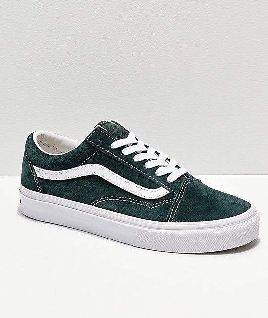 a612ec5cbc6265 Vans Old Skool Dark Spruce Suede Skate Shoes in 2019
