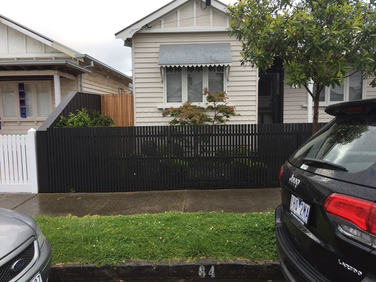 charcoal picket fence narrow