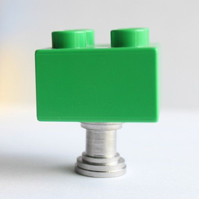 Dark Green Lego Drawer Knobs