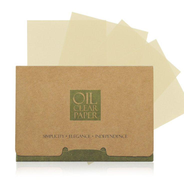 100 yaprak/paket Doku Kağıtları Yeşil Çay Kokusu Makyaj Temizleme Yağı Emici Yüz Blot Kağıt Absorbe Yüz Temizleyici Yüz