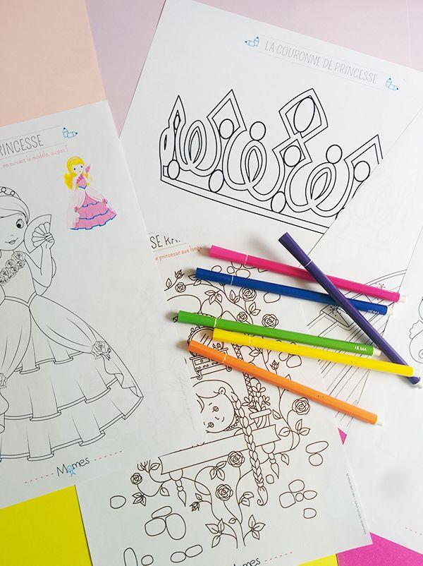 Les coloriages de princesses les plus jolis et les plus féériques sont ici ! Parce qu'on sait bien que la grande majorité des petites filles du monde entier adore les princesses, Momes vous propose une sélection royale de coloriages princesses ! Coloriage princesses Disney, coloriages de princesses aux longues robes, coloriages de château de princesse, de calèches ou de carrosse... Les petites princesses vont s'en donner à coeur joie, il va cependant falloir penser à racheter des feut...