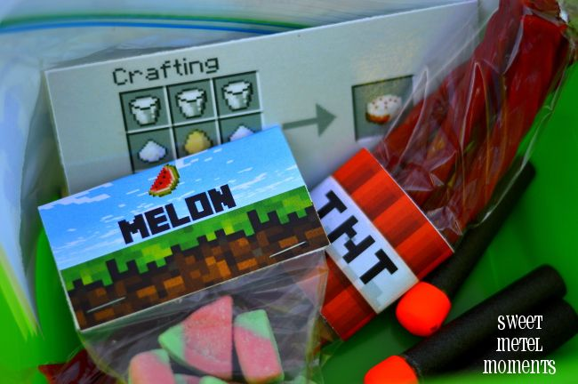 Minecraft Party - Free Crafting a Cake Scavenger Hunt Printable Kit by Sweet Metel Moments