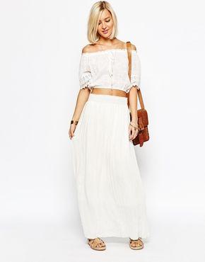 Vero Moda Ruched Waist Maxi Skirt
