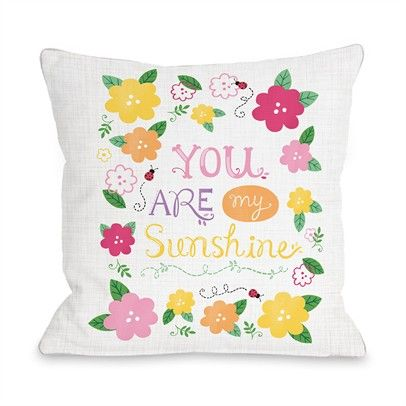 My Sunshine Ozsale Gray Multi 16x16 Pillow-73261PL16-Gray-Multi