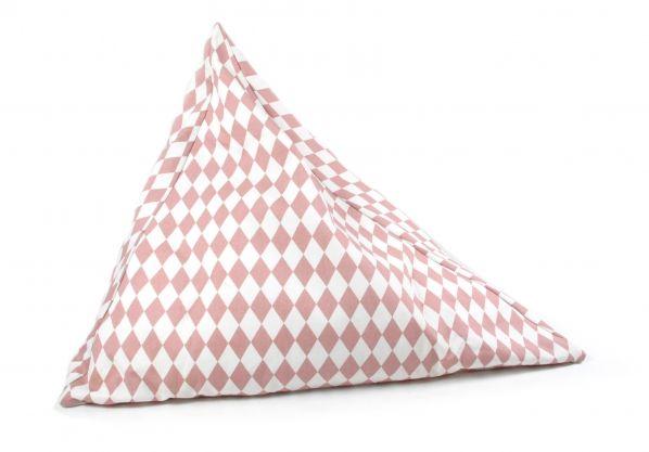 Sittpuff från Nobodinoz i rosa Harlequin mönster