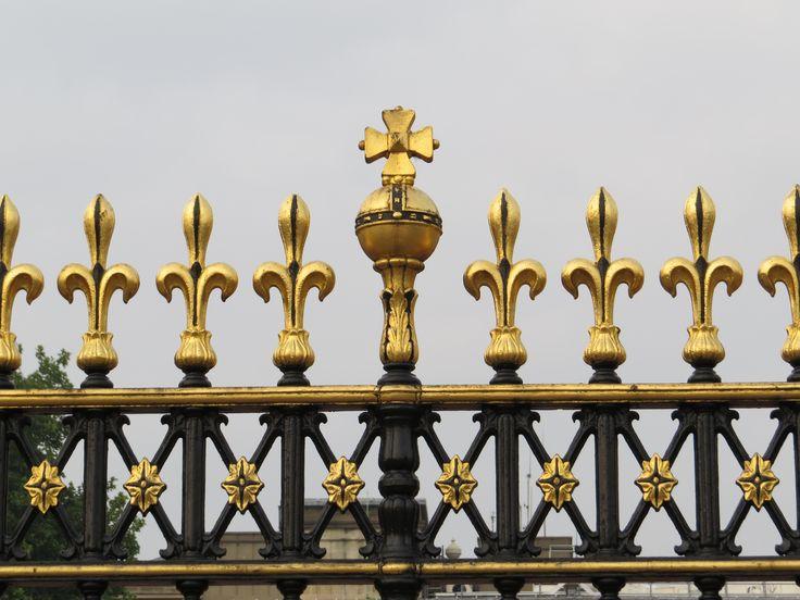 The fence around Buckingham Palace, London, England