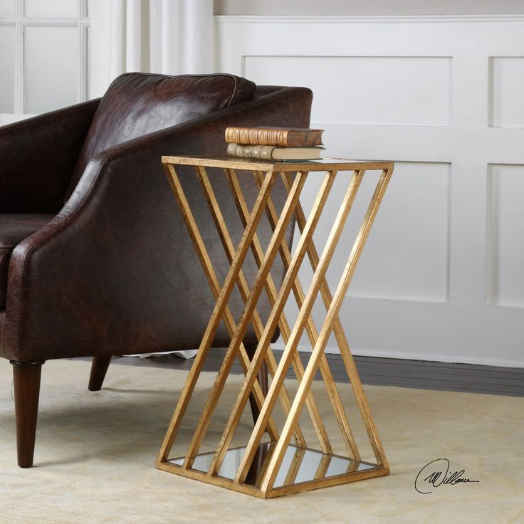 Lowest prices on Uttermost janina gold dimensional accent table, modern decor accessories and country farmhouse furniture. Shop Outrageous Interiors and find the perfect rustic leather living room furniture for your home.