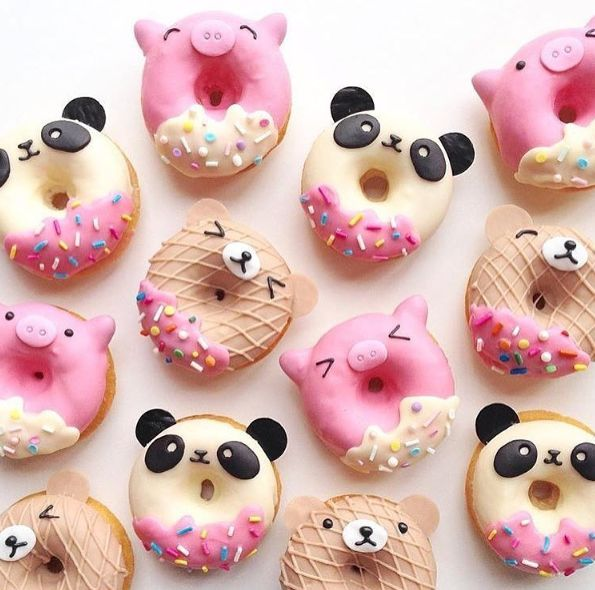 Lovely animals' face donuts. #desserts #donuts #cute # ...