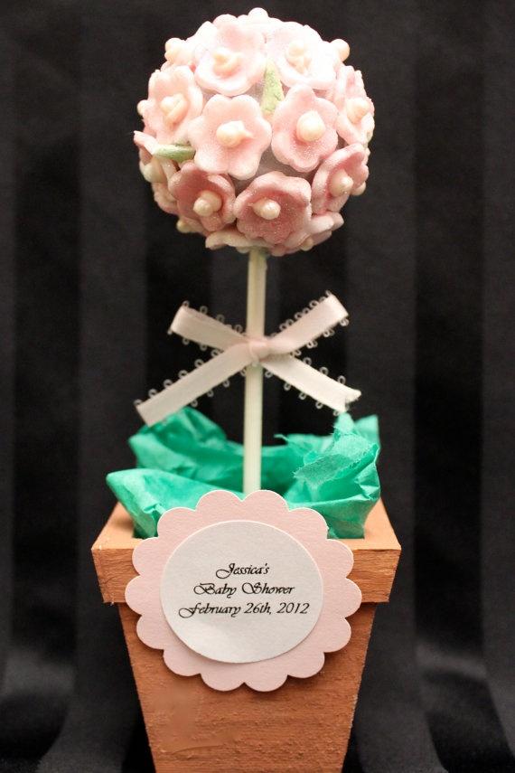 Flower Cake Pop Favors by DelightfulBites on