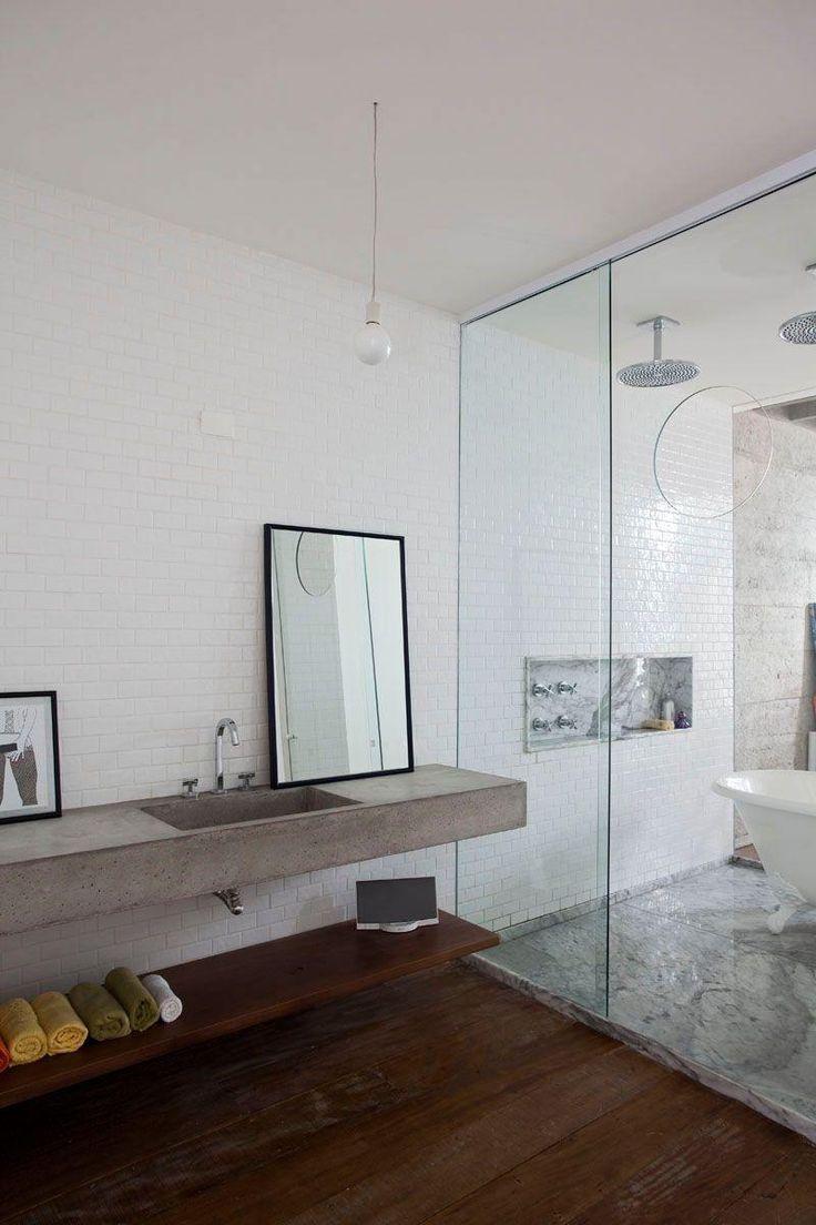 Dekorierte Badezimmer 100 Ideen Mit Dekorationstrends Mit Bildern Beton Badezimmer Badezimmer Innenausstattung Bad Inspiration