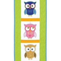 GO! Hoot Hoot Hooray! Wall Hanging Pattern (PQ10507) - made with GO! Owl Embroidery by V-Stitch Designs (VQ-OLE) - Sold Separately