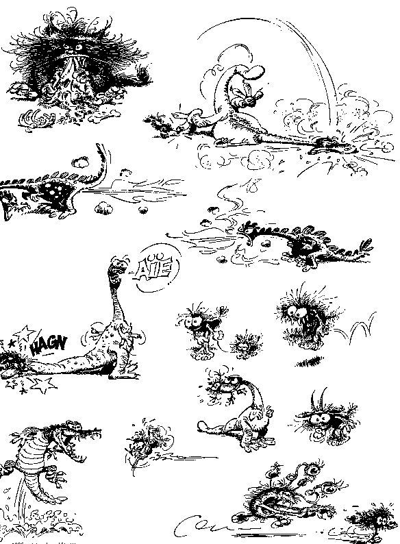 gaston coloring pages - 584 794 franquin pinterest comic