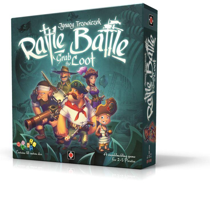 Rattle, Battle, Grab the Loot.  Art: Mechanizzer, Roman Kucharski, Rafał Szyma Design: Rafał Szyma