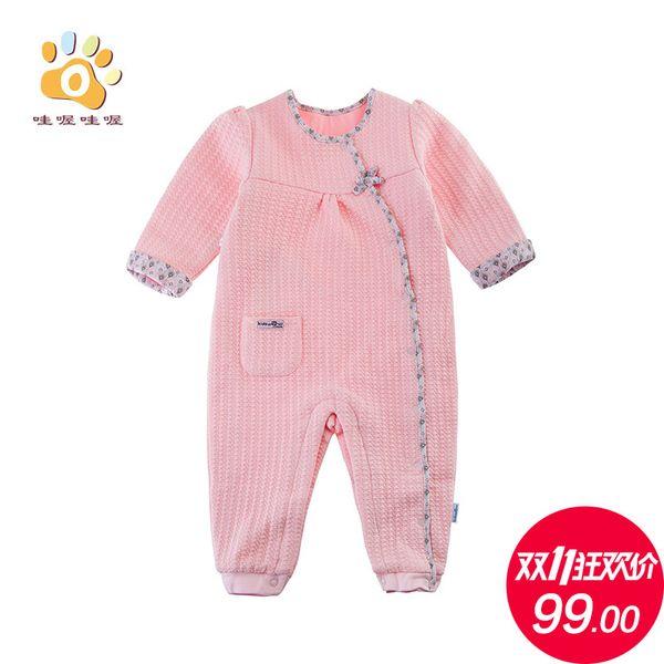 Ползунки, комбинезоны из Китая :: Детская одежда baby onesies новорожденных Ромпер для одежды осень/зима длинный рукав хлопок ходить платье волны.