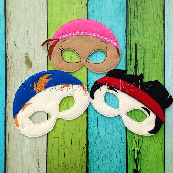 Jake and The Neverland Pirates Dress up masks party favors