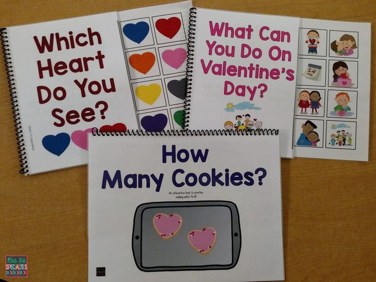 Interactive Valentine books! Target adjectives, nouns, matching, colors, counting and more!! My students LOVE these books!!