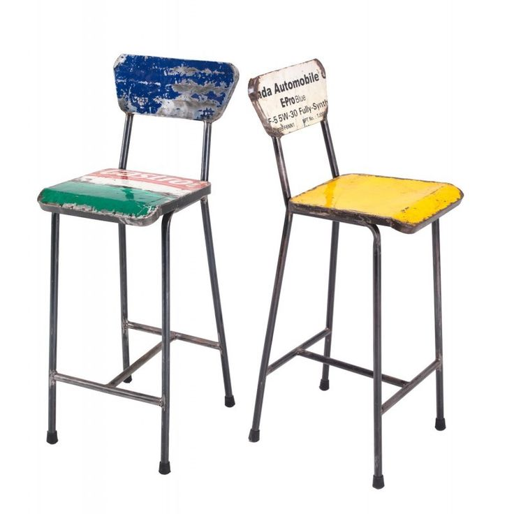Oil Drum Reclaimed Bar Stools