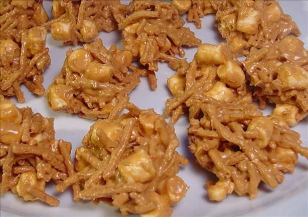 I've been craving these for awhile now, i think tonights the night to make them!!! YUM-o butterscotch haystacks.