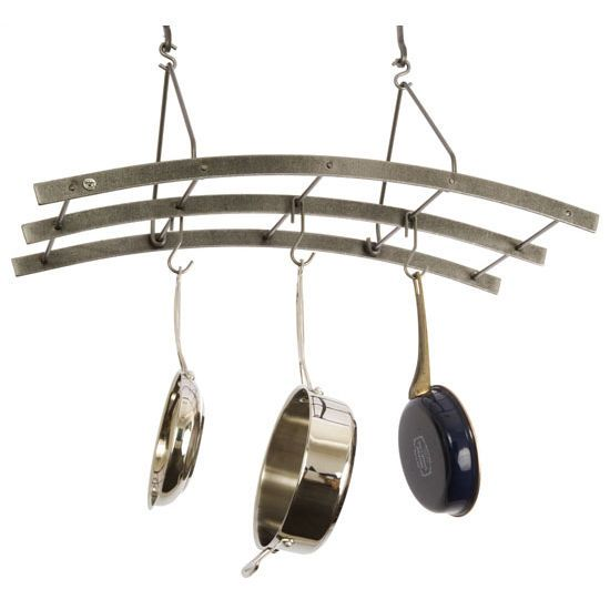 Pot Racks Premier Collection Pr37 Series Reversible Arch Rack In Hammered Steel By Enclume