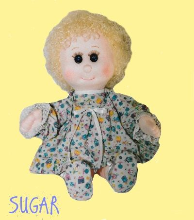 PDF Doll Pattern.Instant Download.   Soft Sculpture Girl Doll Pattern with Instruction -  Make a Girl Doll from Craft Velour Fabric Tutorial PDF & Intruction  SUGAR