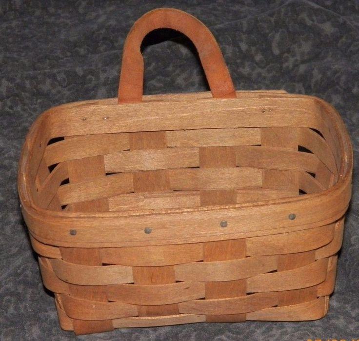1984 Longaberger Key Wall Pocket Basket with Leather Strap ***FREE SHIPPING***