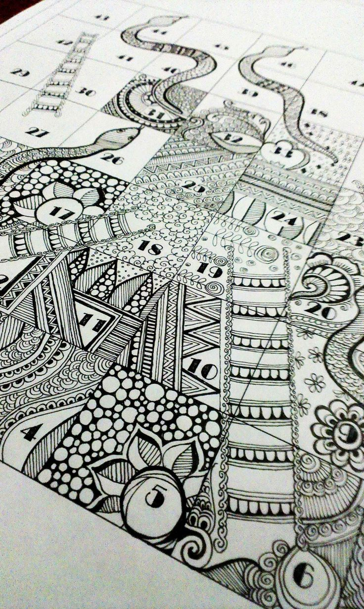 Line Drawing Zentangle : Quot snakes and ladder for zentangle series doodle