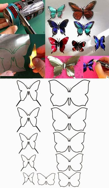 Make Butterfly by Aluminum Can | DIY & Crafts Tutorials