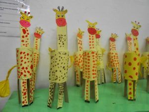 toilet paper roll giraffe crafts
