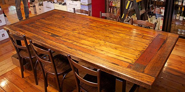 Recycled timber table, Michael Woodberry, Trentham