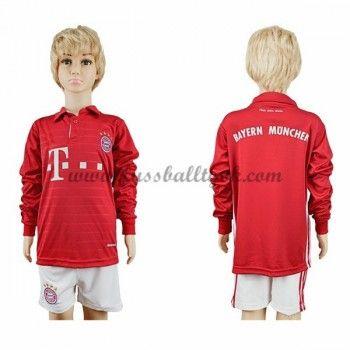 Kinder Fussball Trikot Bayern Munich 2016-17 Heim Trikotsatz langarm