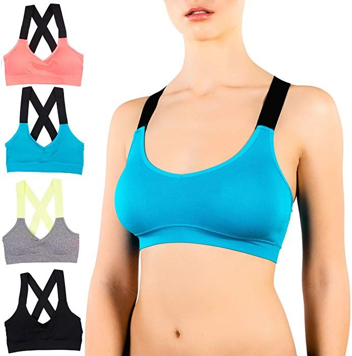 Alyce Athletics Womens Sports Bra, Pack of 4 at Amazon