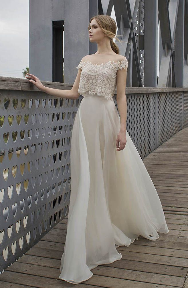 Two-piece lace wedding dress by Limor Rosen Bridal