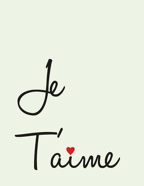 Te amo en francés
