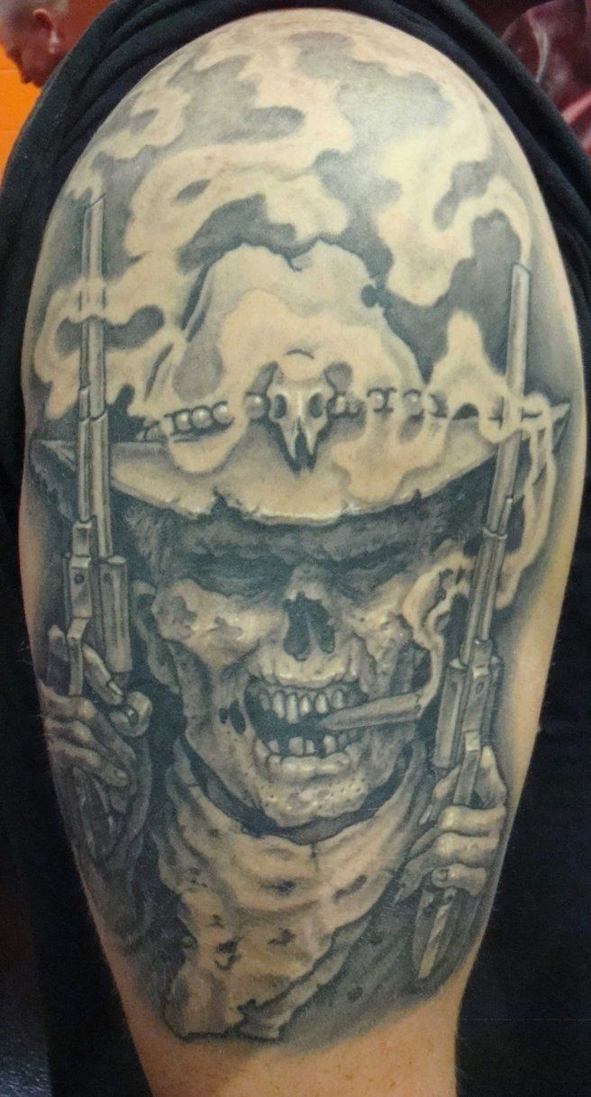 17 best ideas about cowboy tattoos on pinterest cowboy for Zombie tattoo machine