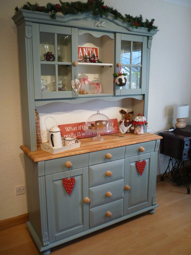 Beautiful Solid Pine Welsh Dresser Hand Painted Annie