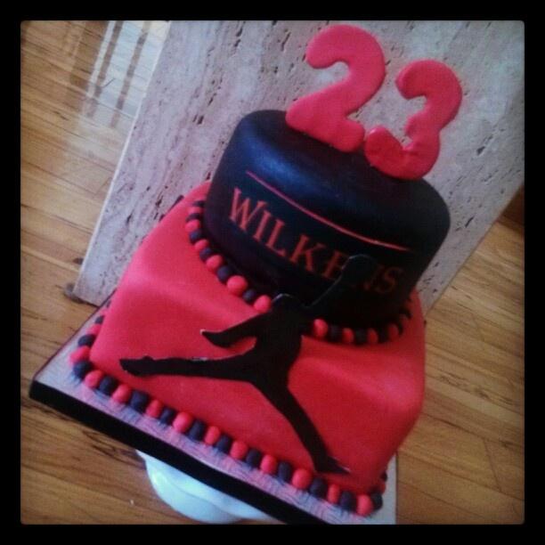Jordan cake black and red