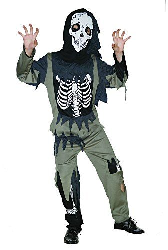 2abef370f5e550 Bristol Novelty CC847 Skeleton Zombie Costume, Black, Small, 110 - 122 cm,  Approx Age 3 -5 Years, Skeleton Zombie (S) Best Halloween Costumes    Dresses USA