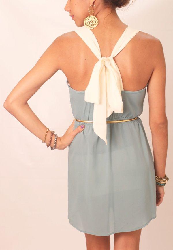 Bow back dress: Summer Dresses, White Bows, Color, Bridesmaid Dresses, Bows Dresses, Bows Back Dresses, Sweet Dresses, The Dresses, Back Details