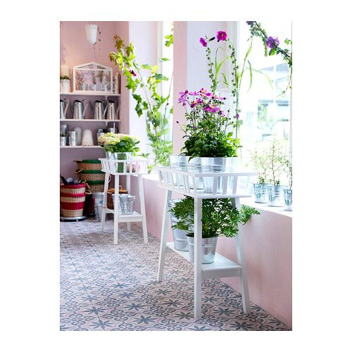 LANTLIV Plant stand IKEA A plant stand makes it possible to decorate with plants everywhere in the home. Love these!