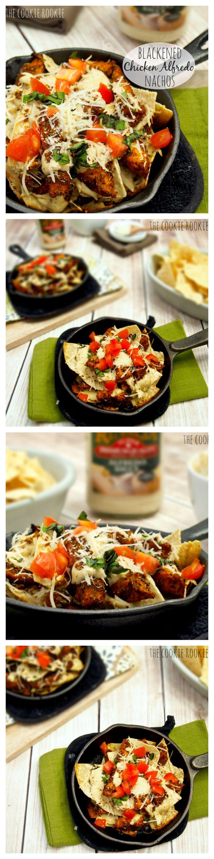 Grilled Blackened Chicken Alfredo Nachos. SOOOO good. Game Changer!! #patraselections #cravings