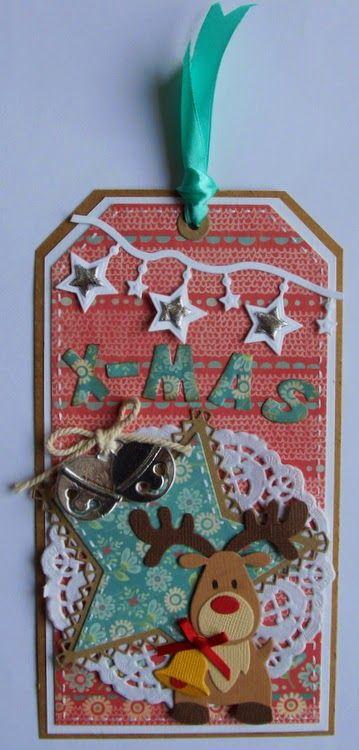 Rudolph Voor deze kaart heb ik de volgende materialen van Marianne Design gebruikt: Rendier Col1369 Paperbloc winter pastel...