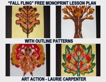 """FREE...""""FALL THINGS"""" EASY-ART MONO-PRINT - http://www.teacherspayteachers.com/Product/Fall-Things-Easy-art-Mono-print-1387168 What fun it is to paint, and even more fun to experience printing with the painted object. It is almost like MAGIC! Download includes: Pdf lesson plan Photos/samples Outlining patterns"""