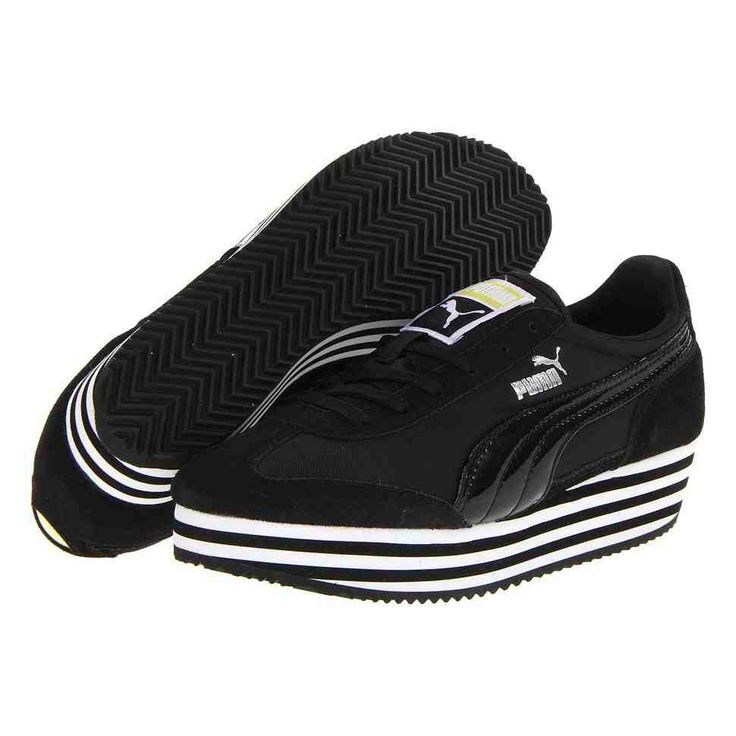 Black Platform Tennis Shoes