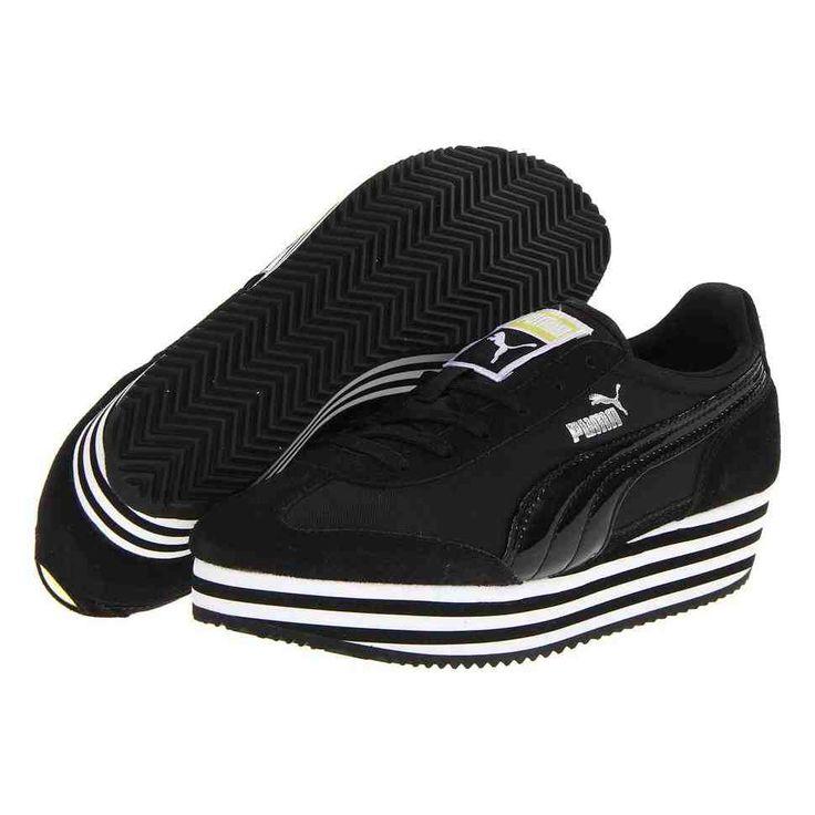 Black Platform Tennis Shoes