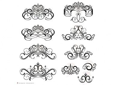 Digital Flourish Clip Art Vintage Flourish Swirls Design Clipart Fleur De Lis Digital Frame use as Decorative Embellishments 10091 | Meylah
