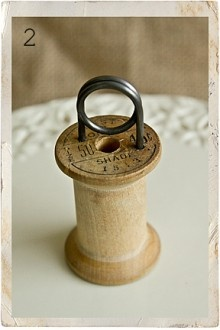 Wooden Spool price Holder.