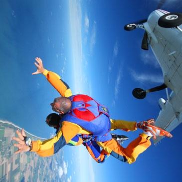 Saut parachute en tandem Le Havre Normandie 76 - Sport Découverte - www.sport-decouverte.com